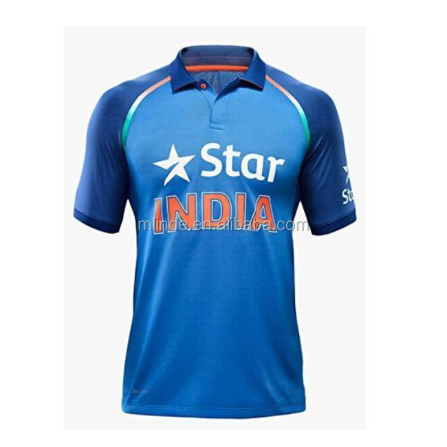 Customized Indian Cricket Jersey Super Soft Knit Cricket Team Jersey Design Online Shopping China Manufacturers