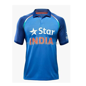 87e0fe42 Customized Indian Cricket Jersey Super Soft Knit Cricket Team Jersey Design  Online Shopping China Manufacturers