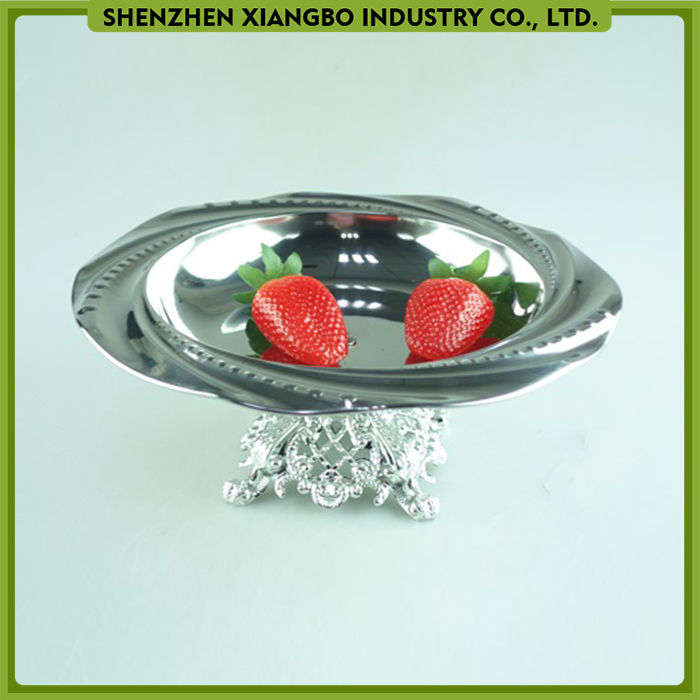 Emboss Stainless steel serving plates and dishes food tray