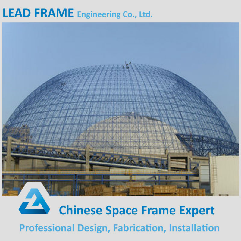 lightweight type steel dome structure metal Shed