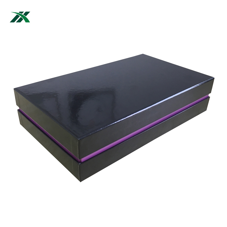 Custom design shoe box packaging apparel clothing glossy rigid boxes supplier