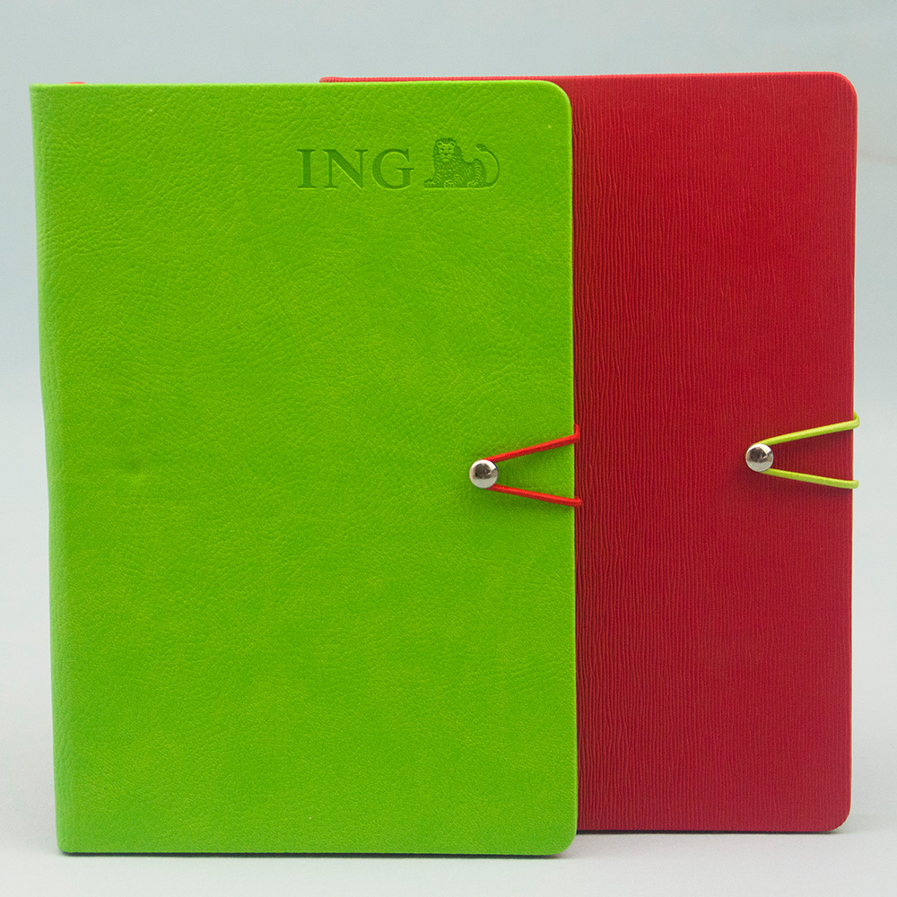 Free sample embossing leather note book embossed notebook cover dairy factory supplier