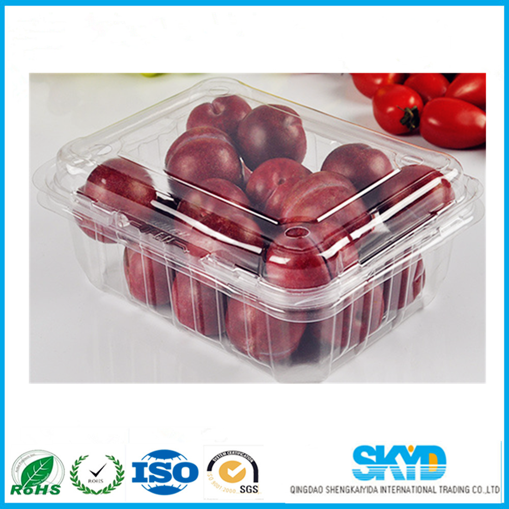 disposable blister plastic packaging container for strawberry