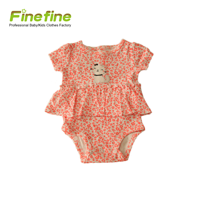 Simple Design Baby Rompers Fashionable Custom Baby Dresses Rompers