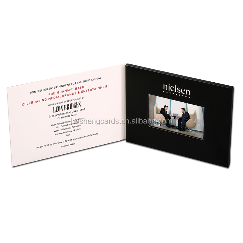 Digital tft lcd video book,video invitation brochure card