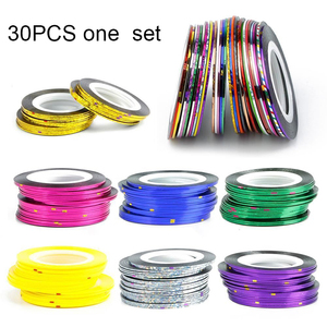 30 Multicolor Colors one set custom spongebob Rolls Striping Tape Line Nail  Art sticker
