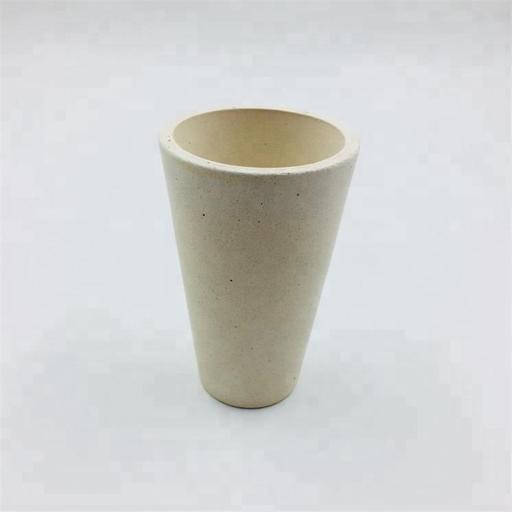 Factory refractory gold melting Small fire clay crucible