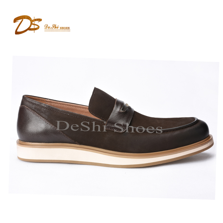 men New leather leather shoes loafers flat genuine mens Shoes driving casual shoe xrpwqr