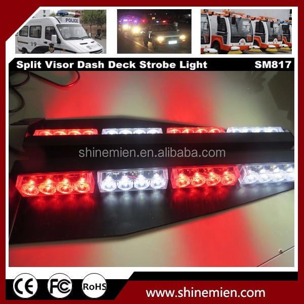 32 led visor light panel strobe light bar police fireman tow towing truck dash emergency warning