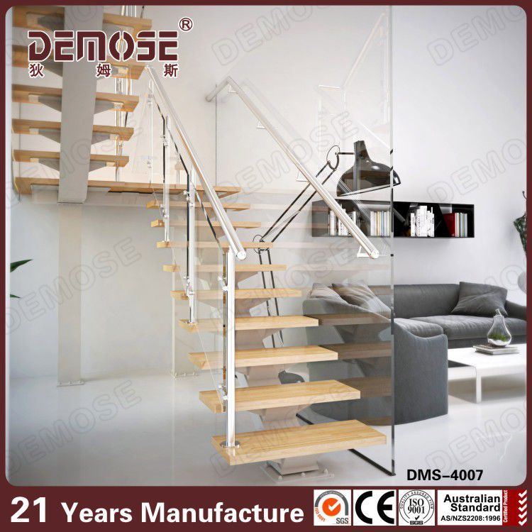 Internal Stairs Residential With Prefab Metal Stair Railing
