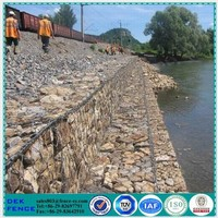 Rock cage iron / retaining wall sea / retaining wall construction