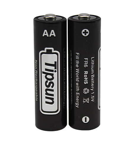 15 Years Shelf Life Tipsun 1.5V FR6 AA Lithium <strong>Battery</strong> for smart electronic door locks