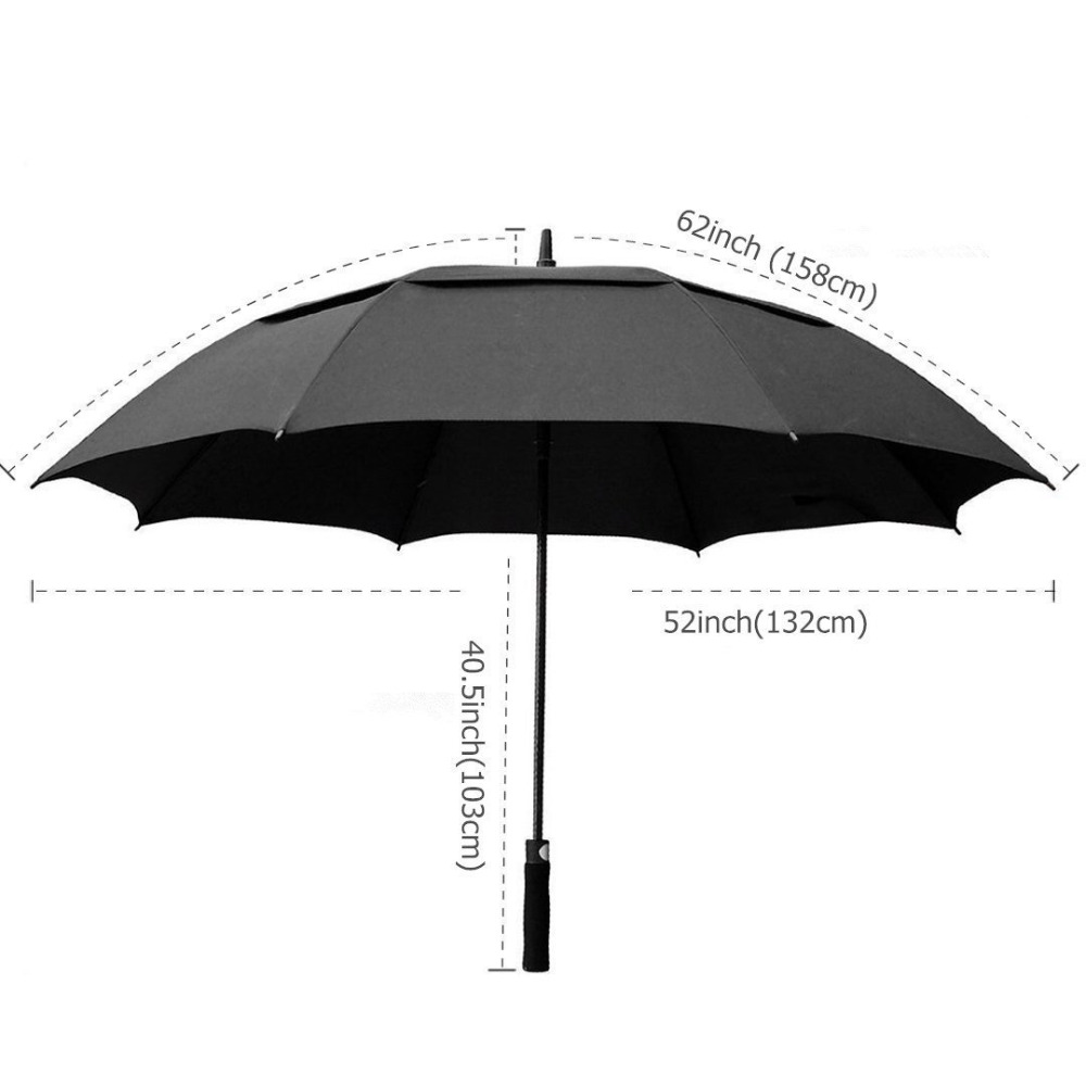 High quality windproof stick sky printing rain umbrella