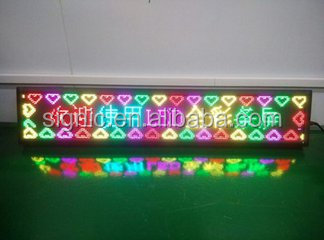 Flexible Scrolling Outdoor Led Display Signs , Led Moving Message Display