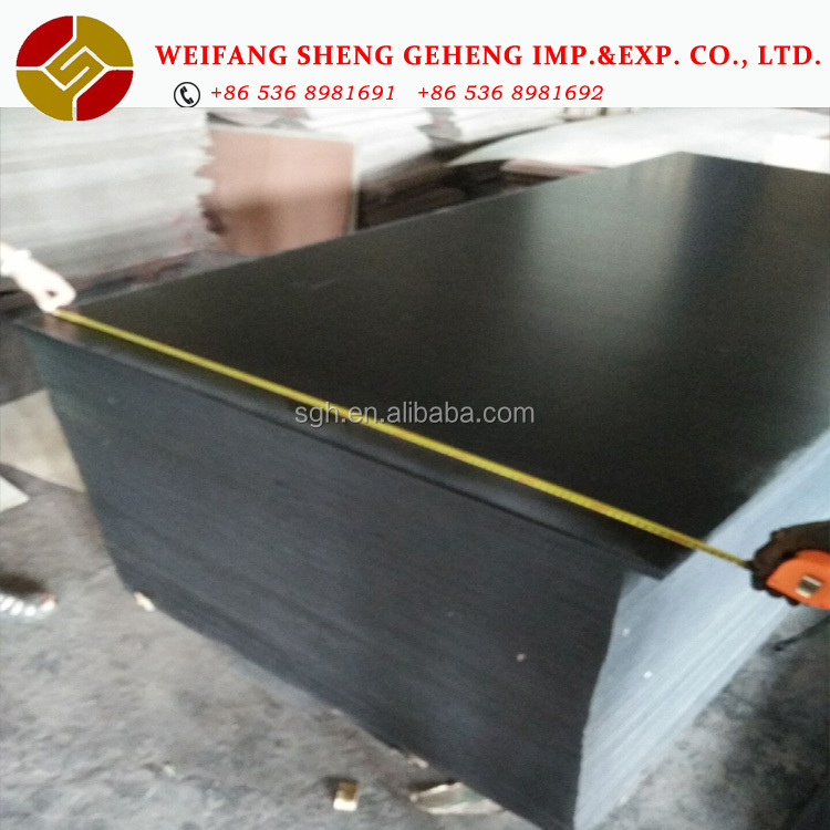 Good Quality And Cheap Price Black Film Face Ply / Big Size Film Faced Plywood / 18mm Film Faced Playwood