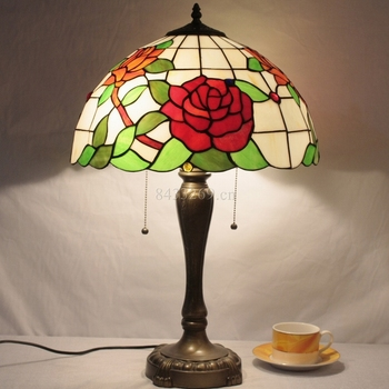 16inch tiffany glass table lamp with stained glass for home decoration lamp