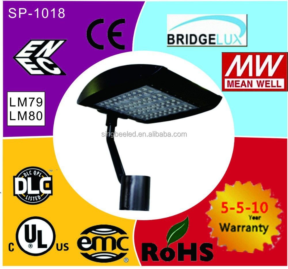 320w parking lot light poles for 6 years warranty for The united Arab emirates