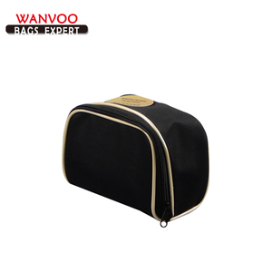 Two Zipper PVC Hard Case Cosmetic Travel Bag