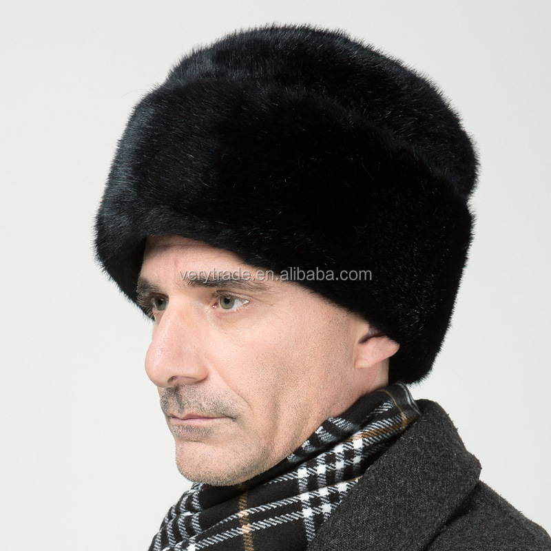 Authentic Russian Ushanka Hat Black Fur Beanie Hat - Buy Winter Hat 78e9cf31dcd