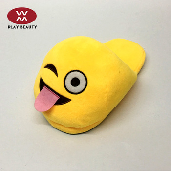 e899ce25d96 Hot Sale Soft Plush Emoji Slippers For Man woman kids - Buy Slippers ...