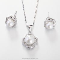 LIXIN pearl set, pearl jewelry set, pearl set designs (CJ0289-IO)