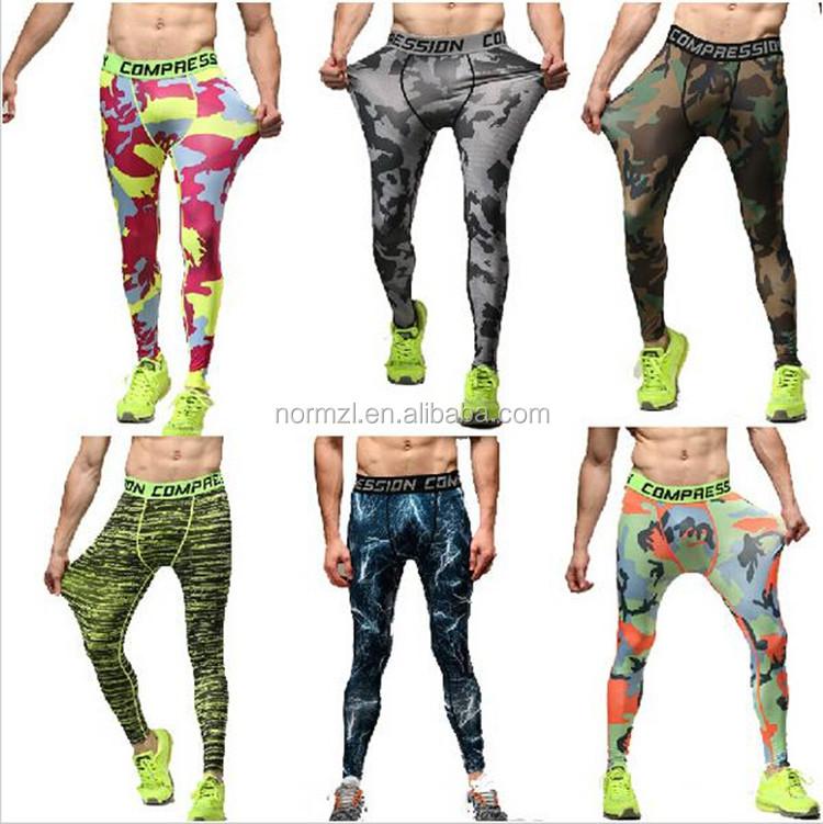 Dri fit sports compression wears men custom male compression wear fitness wear Guangzhou pretty clothing factory