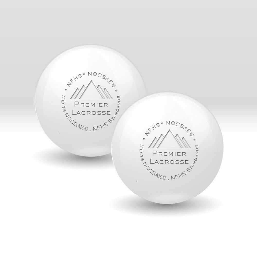Premier Lacrosse Balls Bundle Quality Ball Bag - NFHS/NCAA   Lacrosse Balls Bulk   Greaseless Balls Consistent Passes - 1/15/20/30/50/90 Packs/White Balls