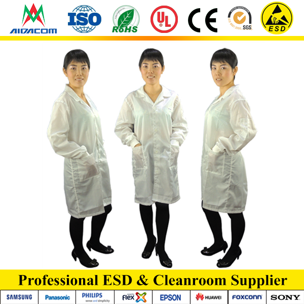 3/4 ESD Female Cotton ESD Smock