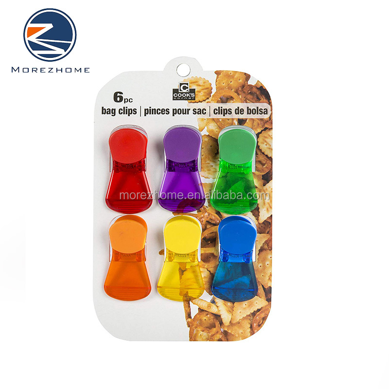 Morez 6 pcs Promotion Custom plastic bag clips 메모 food bag clips (eiffel tower) 자기 백 clips