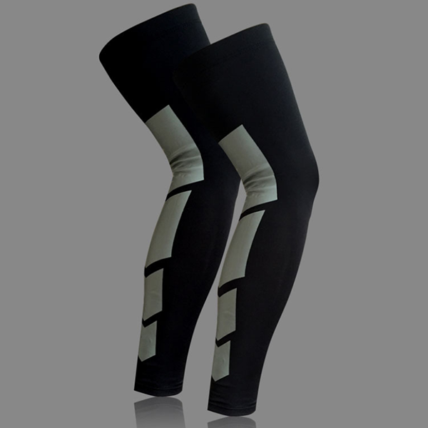 Polyester Knee Brace Compression Knee Wraps Long Knee Sleeves