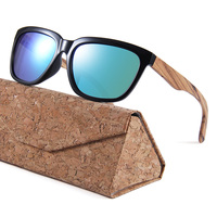 2018 Summer Vintage Colored Custom Wooden Sun Glasses Sunglasses