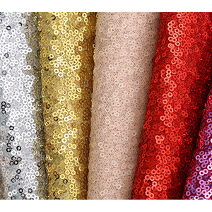 100% polyester colorful cheap wholesale silver gold sequin fabric