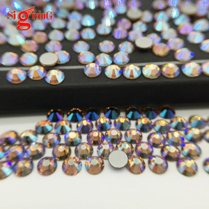 Wholesale Flat back bling rhinestones 2mm AB colors glass decorative beads