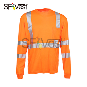 Class 2 performance high visibility safety long sleeve T -shirt