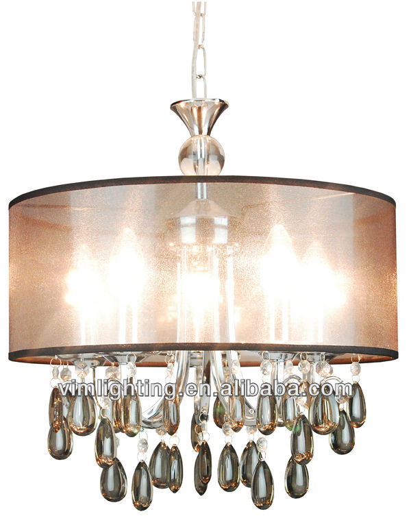 5 lights cheap black acrylic chandelier 8276-5/BK