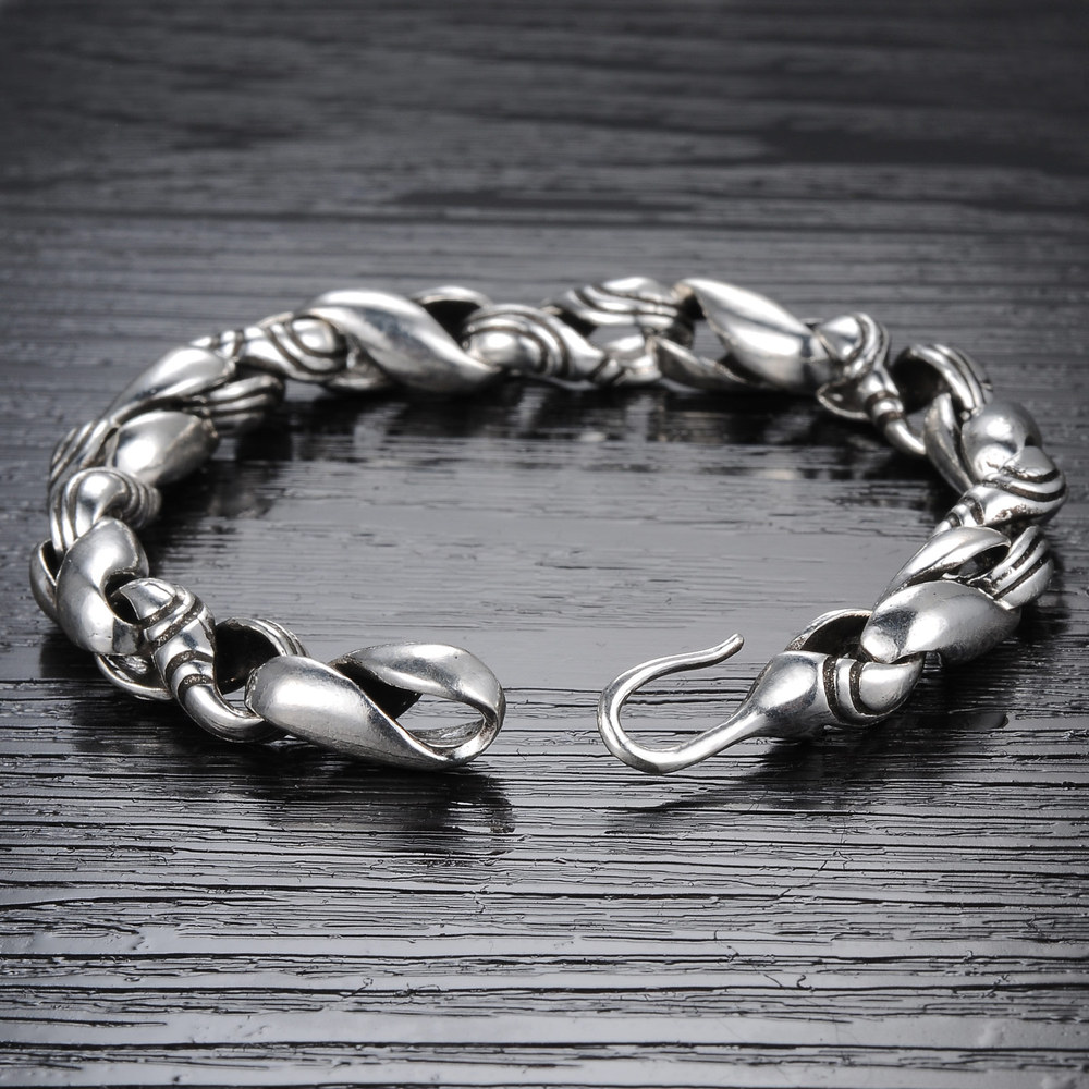 Latest Old Look 925 Sterling Silver Men S Antique Bracelet