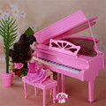 Miniature Furniture Piano for Barbie Doll House Pretend Play Toys for Girl Free Shipping