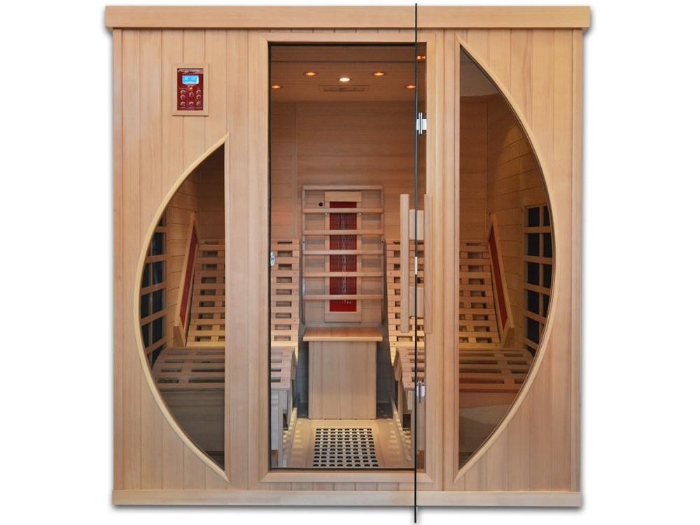 hot sale luxury indoor family sauna cabin far infrared. Black Bedroom Furniture Sets. Home Design Ideas