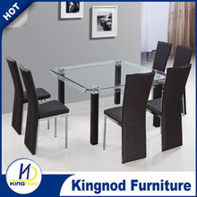 Glass dinning set Dinning Chairs And Table Restaurant