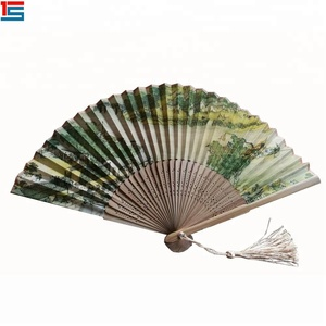 Bamboo Kung Fu Fighting Fan Dragon And Phoenix Red Fan
