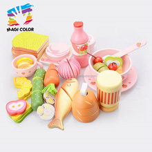 Wholesale interesting baby wooden cutting food toy with vegetables fruits fish etc W10B194
