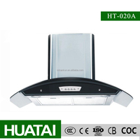 Temered Glass Stainless steel baffle filter cooker hood