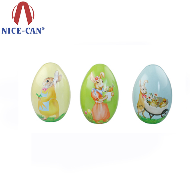 Buy cheap china gift box for egg products find china gift box for food grade easter egg shaped gift tin decorative metal egg tin box lovely design tin boxes negle Images