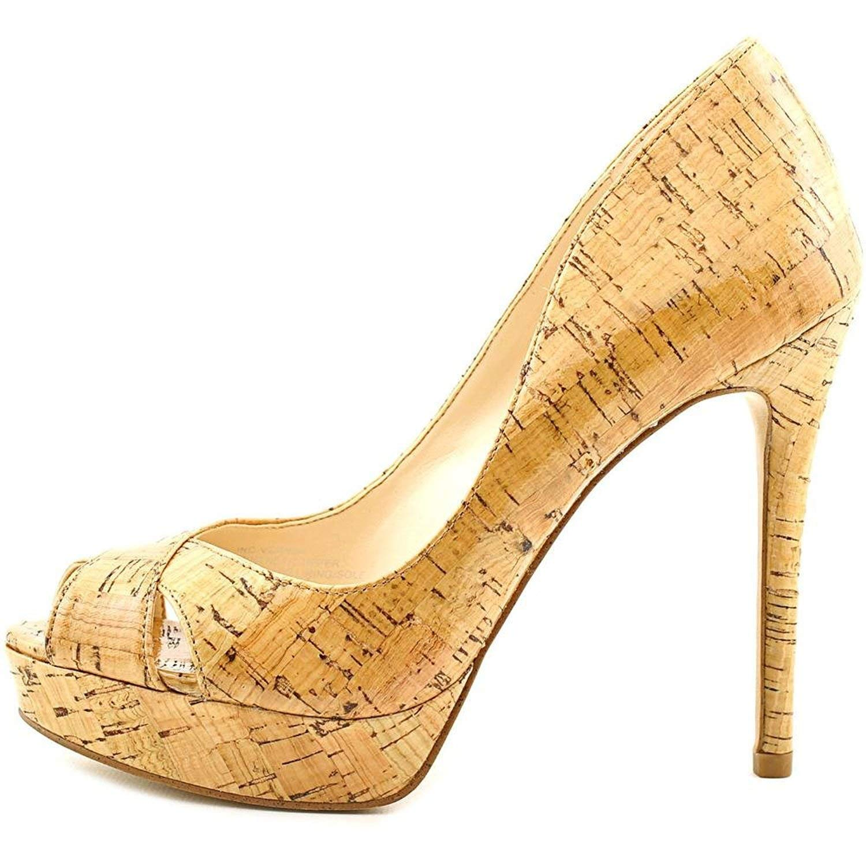 INC International Concepts Womens Vernaa Peep Toe Classic, Natural, Size 8.5