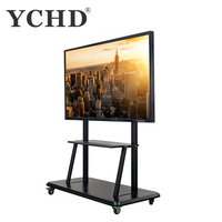 65 inch lcd touch screen panel portable smart board for school