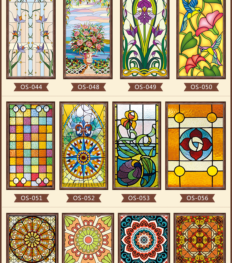 Stained Glass Windows For Homes.Us 8 69 13 Off New Styles Custom Electrostatic Frosted Stained Glass Window Film Pvc Self Adhesive Window Films Church Home Foil Stickers In