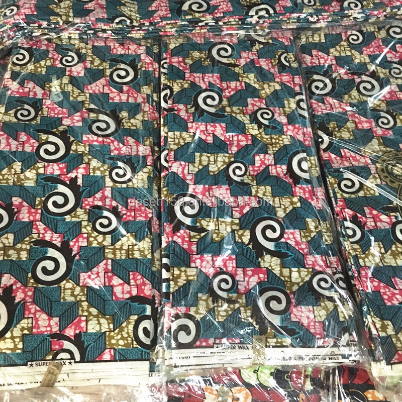 hot sale 100%cotton wax print kente fabric african fabric