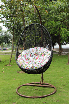 egg shaped rattan balcony swing chair for garden or baby swing high
