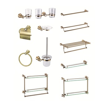 made in china gold bathroom accessory sets