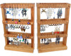 Foldable Earrings Wood Display Holder/Wood Jewelry Display